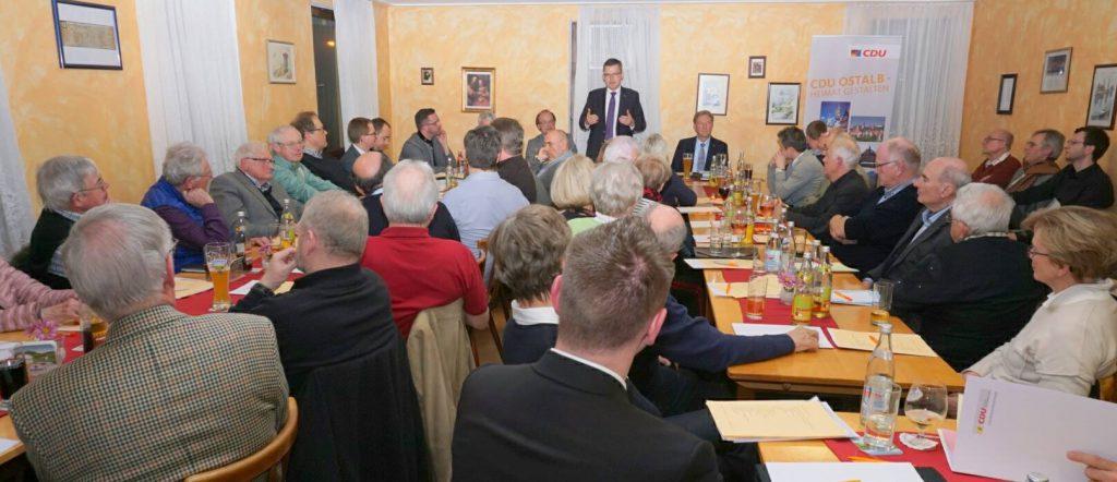 Mitgliederversammlung 2018 des CDU Stadtverbands Schwäbisch Gmünd